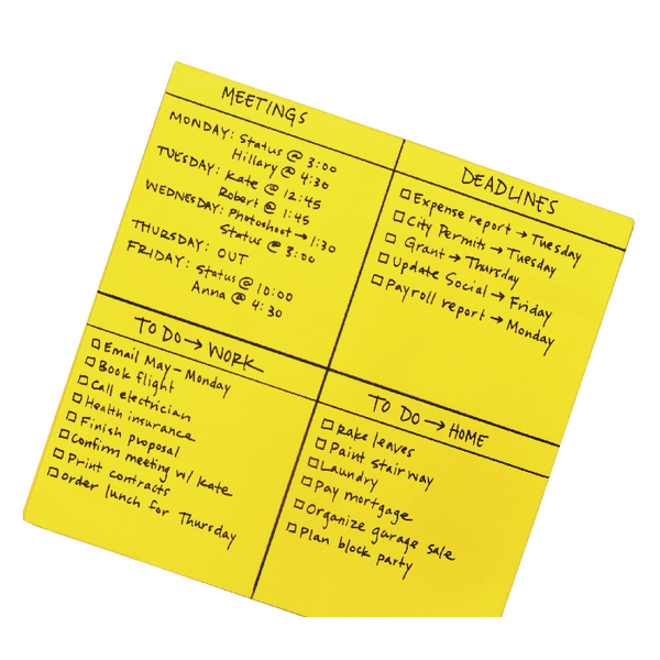 Post-it Super Sticky Yellow Big Notes 279x279mm [Pack of 30]