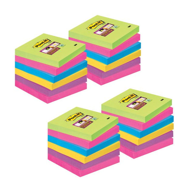 Post-It Super Sticky Colour Value Pack [Pack of 24]