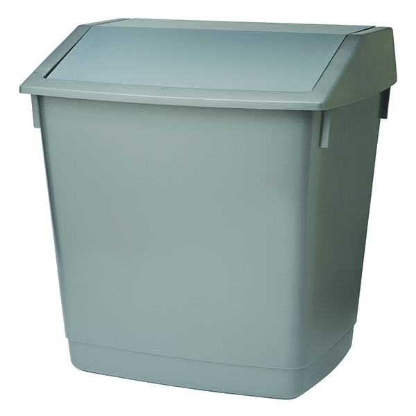 Addis 54 Litre Flip Top Recycle Bin Grey