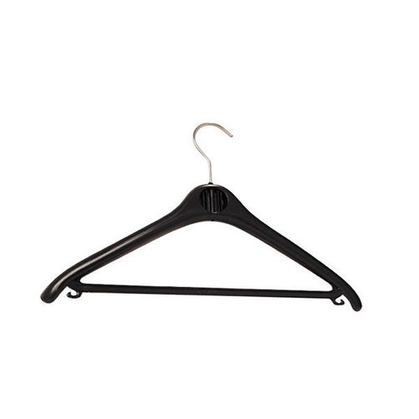Alba Plastic Coat Hanger Black [Pack of 20]