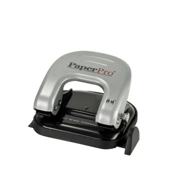 Paperpro ProPunch 2 Hole 20 Sheet Black and Silver