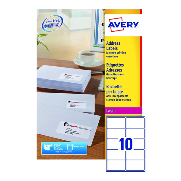 Avery Laser Labels L7173-250 10/Sheet [Pack of 250 Sheets]