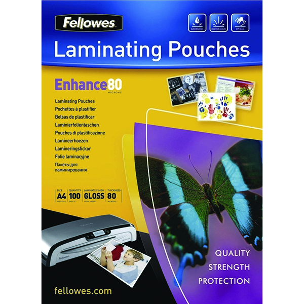 Fellowes Laminating Pouch A4 Self-Adhesive 80mic