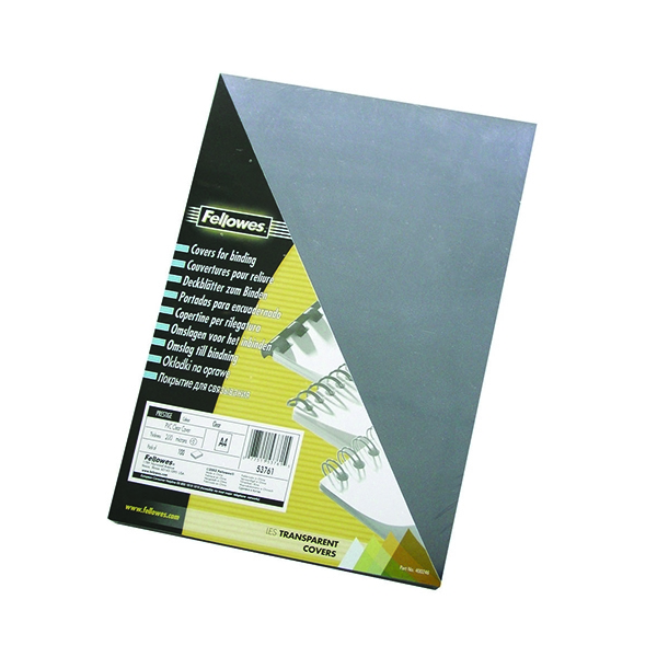 Fellowes Transparent Plastic Covers 240 micron [Pack of 100]