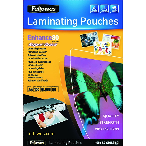 Fellowes A4 Super Quick Laminating Pouch [Pack of 100]
