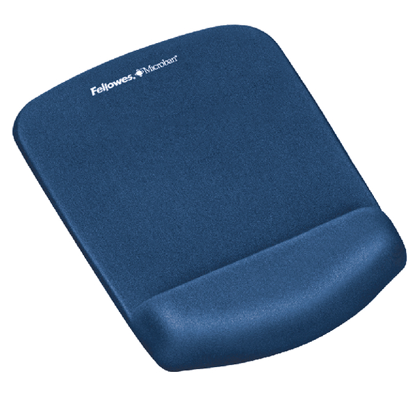 Fellowes Plushtouch Mousepad Wrist Support Blue [Alternative Picture 1]
