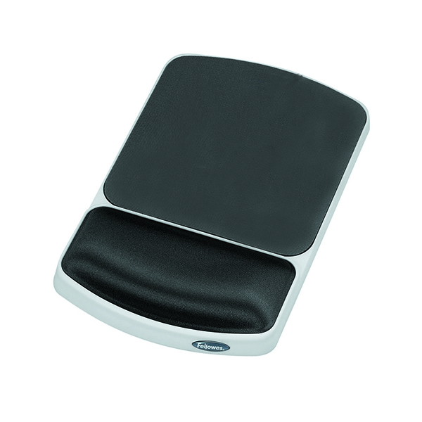 Fellowes Premium Gel Mousepad Wrist Support Graphite [Alternative Picture 1]