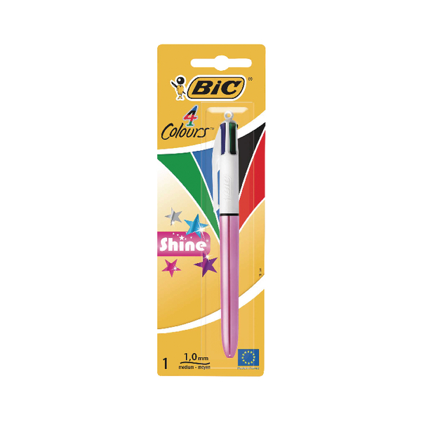 Bic 4-Colours Shine Blister [Pack of 10]