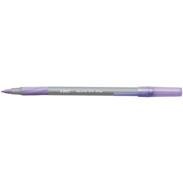 Bic Round Stic Grip Purple Class Pack [Pack of 40]