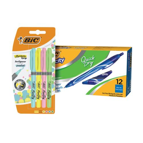 Bic Gel-ocity Quick Dry Pen Blue [Pack of 12]
