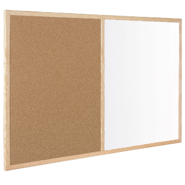 Bi-Office Cork Write-On Wipe-Off Board 900x600mm