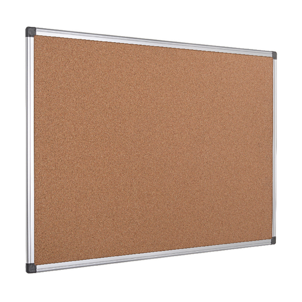 Bi-Office Cork Board 1200x900 Aluminium Frame