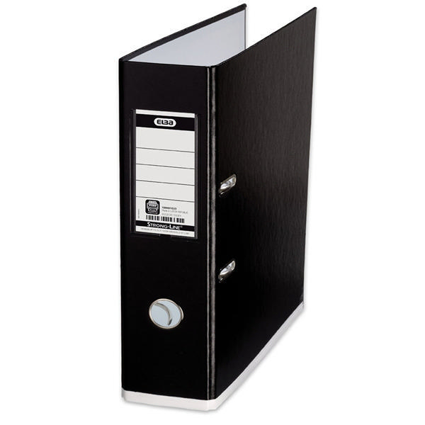 Elba Mycolour Lever Arch File File Black and White