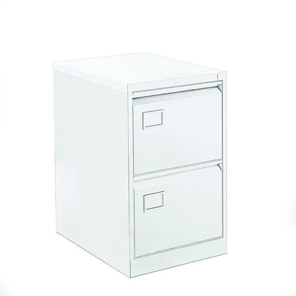 Bisley 2 Drawer Filing Cabinet Chalk White [Alternative Picture 1]