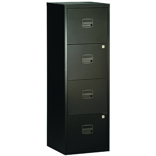 Bisley A4 Personal Filer 4 Drawer Black