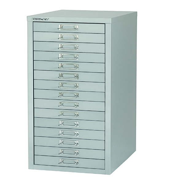 Bisley 15 Drawer Non-Lockable Multidrawer Grey