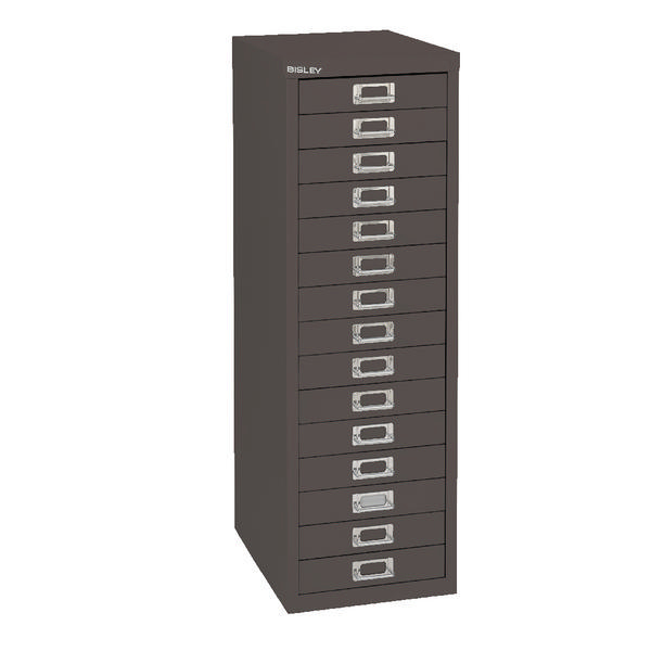 Bisley Cabinet 15 Drawer Black