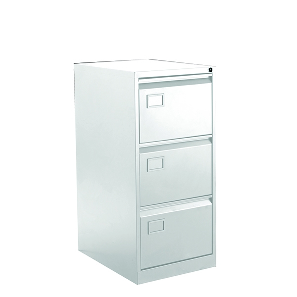 Bisley 3 Drawer Filing Cabinet Chalk White