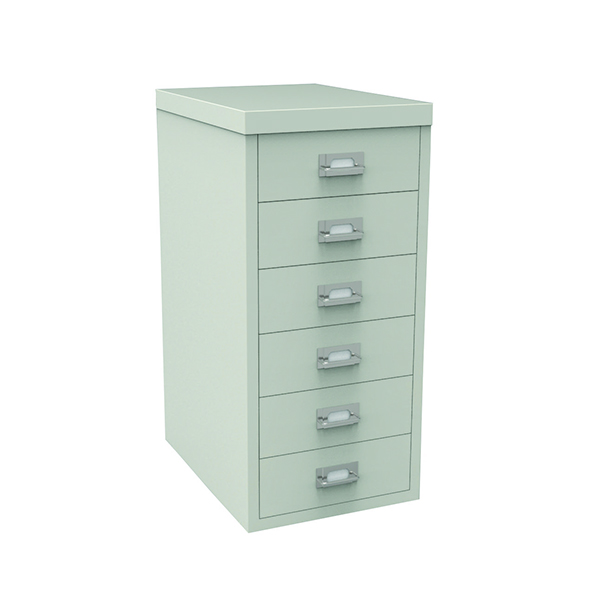 Bisley 6 Drawer Non-Lockable Multidrawer Grey