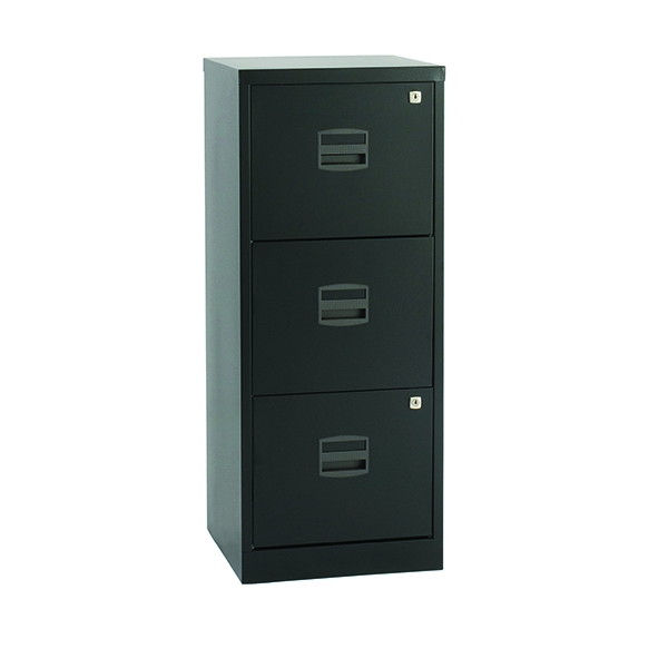 Bisley A4 Personal Filer 3 Drawer Black