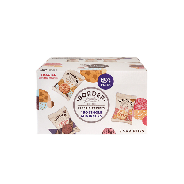 Border Biscuits Single Packs [Pack of 150]