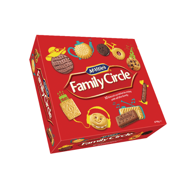 Jacobs Family Circle Biscuits 620g
