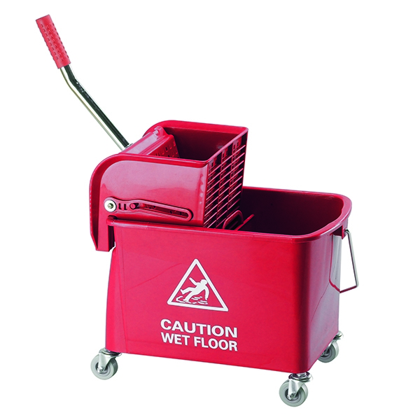 Contico Mobile Mop Bucket 15 Litre Red