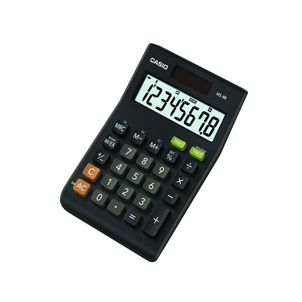 Casio MS-8B-SEH Tax and Currency Calculator 8 Digit