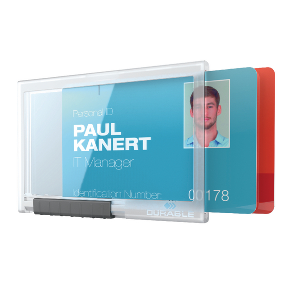 Durable Card Holder Pushbox Duo Transparent