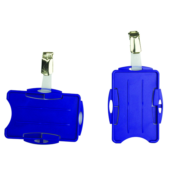Durable Dual Security Pass Holder Blue [Pack of 25]