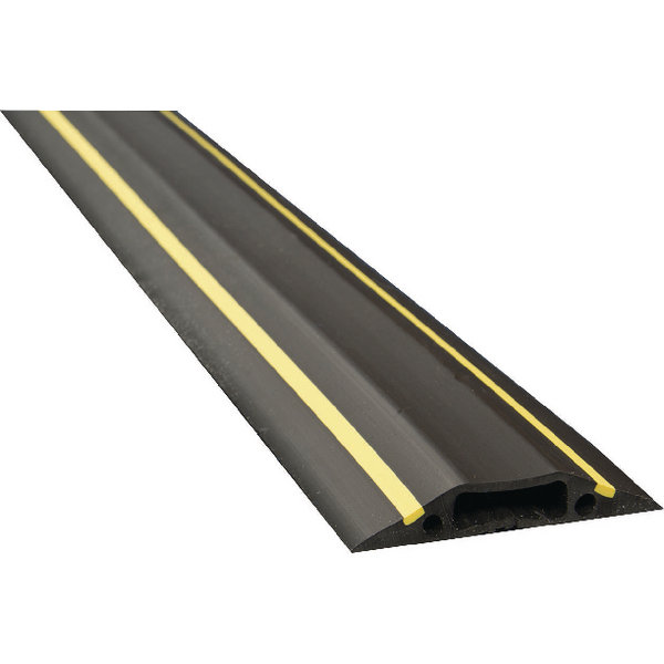 D-Line Floor Cable Cover Large Black and Yellow