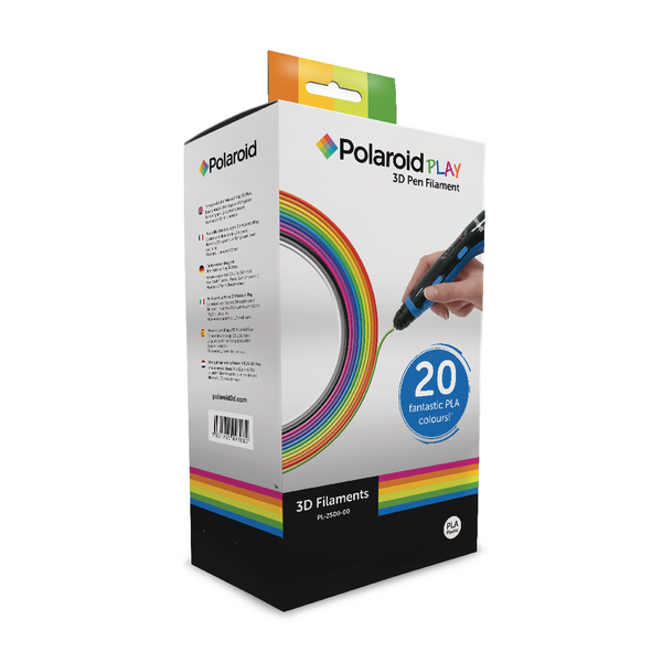 Polaroid 3D Pen Filament Assorted [Pack of 20]