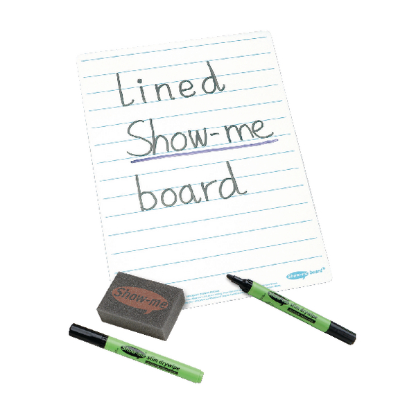 Show-me A4 Lined Whiteboard Sets [Pack of 35]
