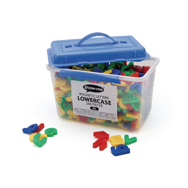 Show-me Magnetic Lowercase Letters [Tub of 286]