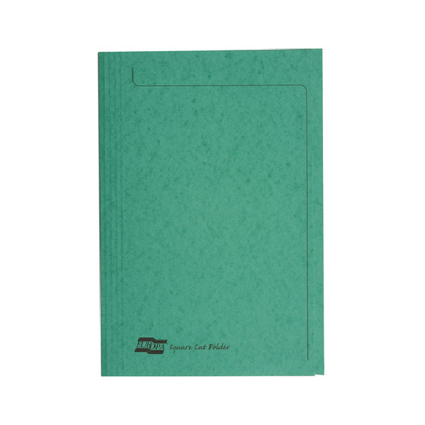 Europa Square Cut Folder Foolscap Green [Pack of 50]