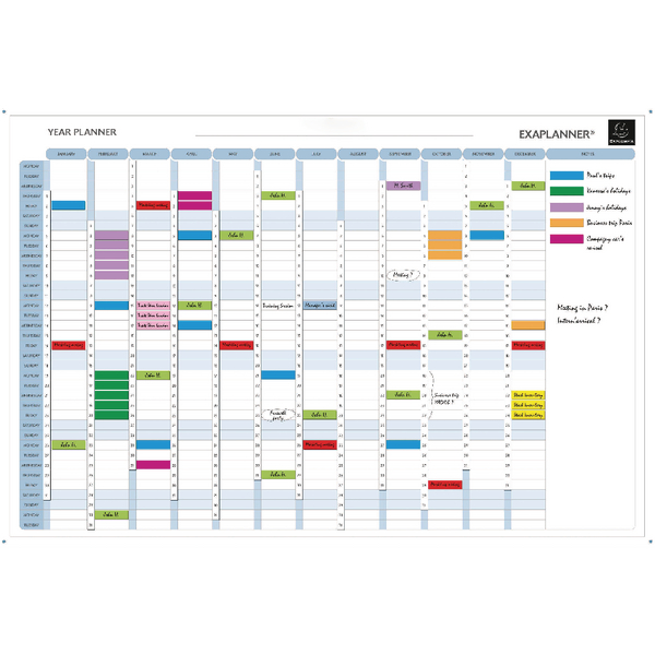 Exacompta Magnetic Year Planner White