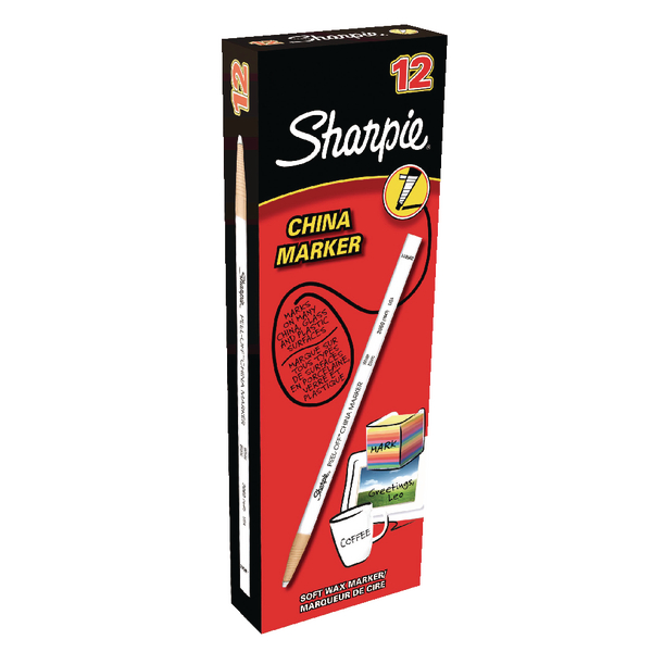 Sharpie China Marker White [Pack of 12]