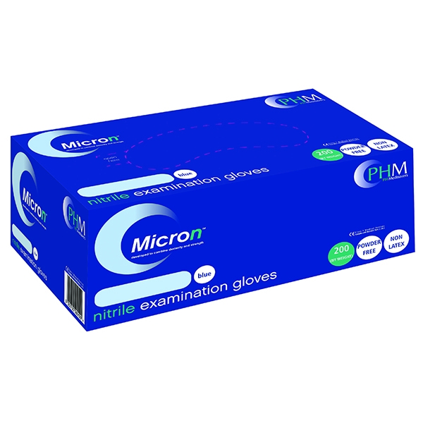 Blue Nitrile Examination Gloves M [Pack of 200]