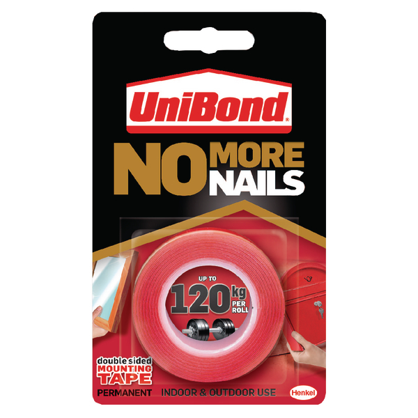 Unibond NoMoreNails Double Sided 1.5m Roll Permanent