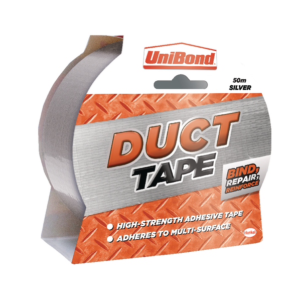 Unibond Duct Tape Silver 50MMX50m