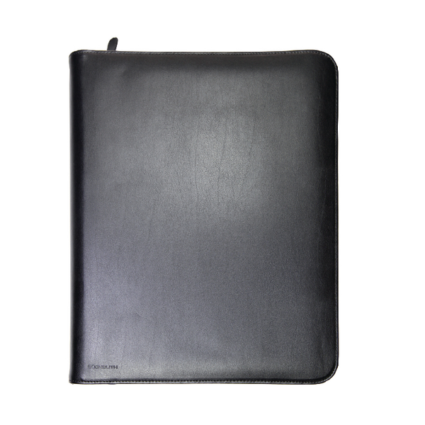 Monolith Conference Folder Zipped Leather A4 Black