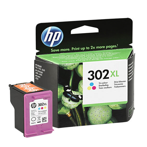 HP 302XL Cyan/Magenta/Yellow Ink Cartridge