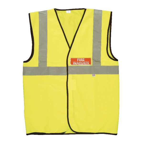 Fire Warden Vest High Visibility XL Yellow