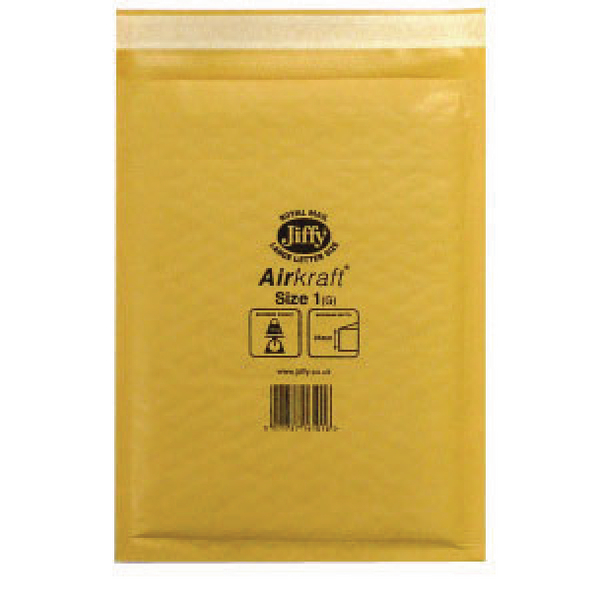 Jiffy Airkraft Size 1 Gold Multi [Pack of 10]