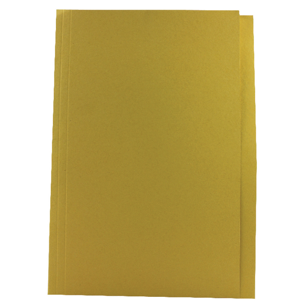 Concord Square Cut Folder Mediumweight Foolscap Yellow [Pack of 100]