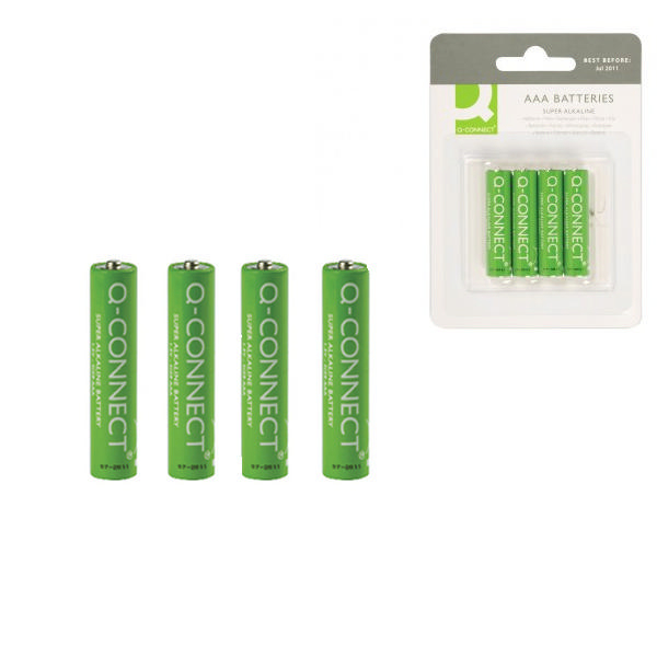 Q-Connect AAA Batteries [Pack of 4]