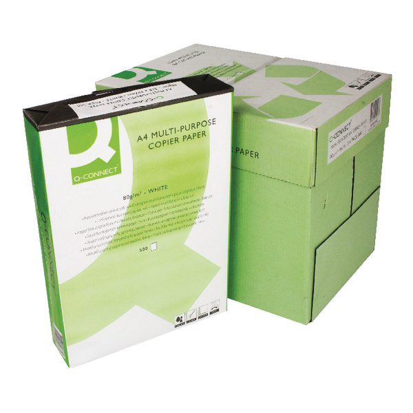 Q-Connect Recycled Copier Paper A4 80g White [Pack of 2500]