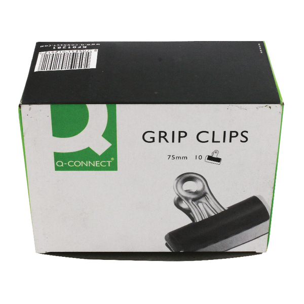 Q-Connect Grip Clips 75mm [Pack of 10]