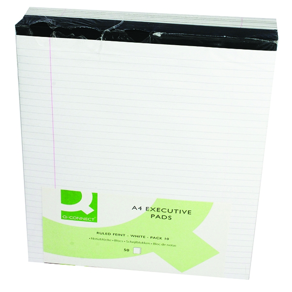 Q-Connect Executive Pad White [Pack of 10]
