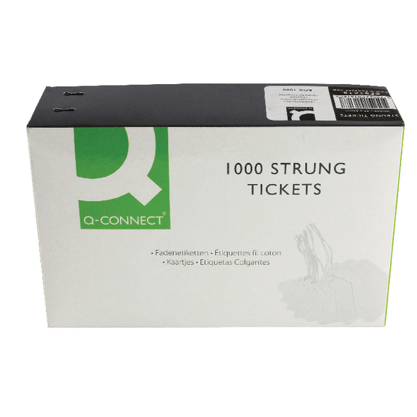 Q-Connect Strung Ticket 37x24mm White [Pack of 1000]